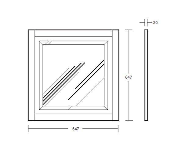 Technical drawing QS-V40670 / XG3900020O