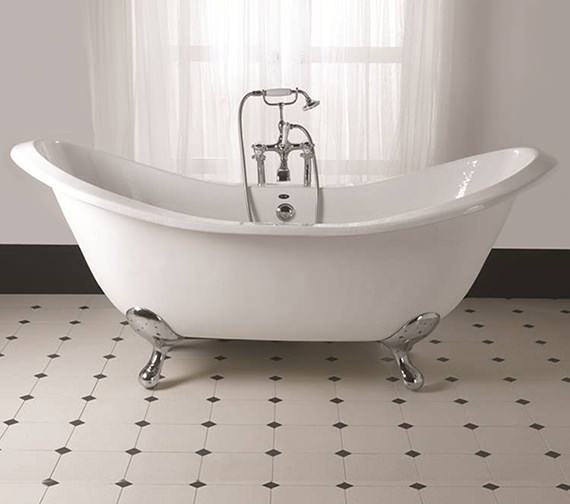 Imperial Sheraton 1800mm Slipper Bath With Ball G And H Cast Iron Feet