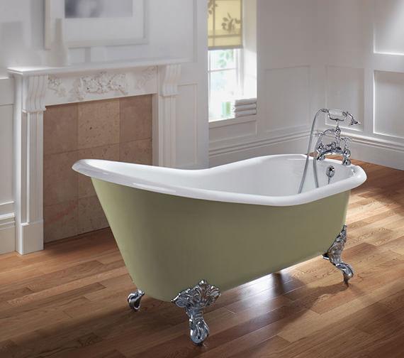 Imperial Ritz Cast Iron Slipper Bath 1540mm - ZCI000102S