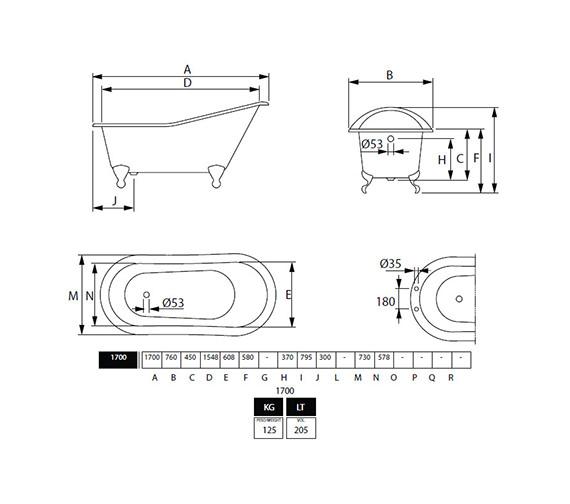 Technical drawing QS-V40712 / ZCI000002S