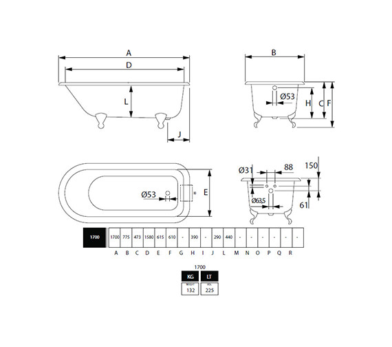 Technical drawing QS-V40714 / ZCI000001S
