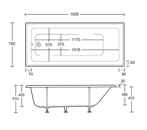 Technical drawing QS-V40729 / XA73000410