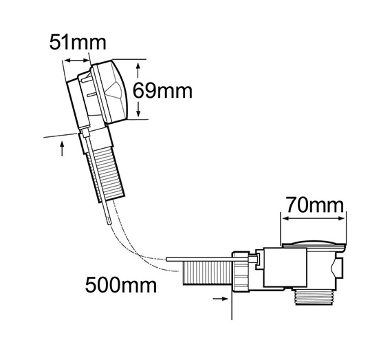 Technical drawing QS-V40806 / PUW200/501
