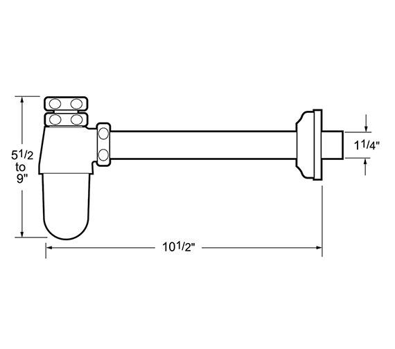 Technical drawing QS-V40808 / TCP625