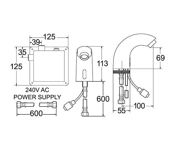 Technical drawing QS-V40837 / SENSOR2/D