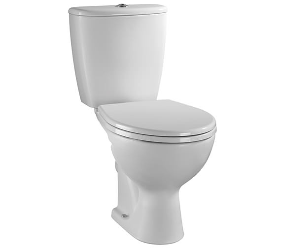 Twyford Alcona Close Coupled WC Pan And Cistern 640mm Bottom Outlet