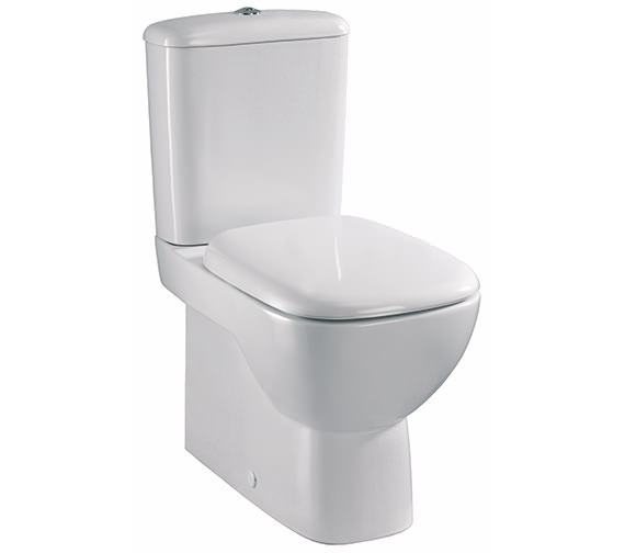 Twyford Moda Close Coupled Rimfree Back To Wall WC Pan 640mm And Cistern
