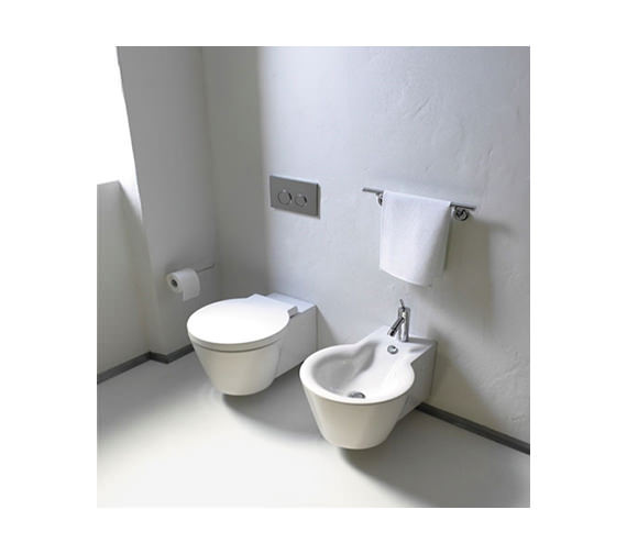 Duravit Starck 1 Wall Mounted Bidet 410 x 575mm - 0274150000