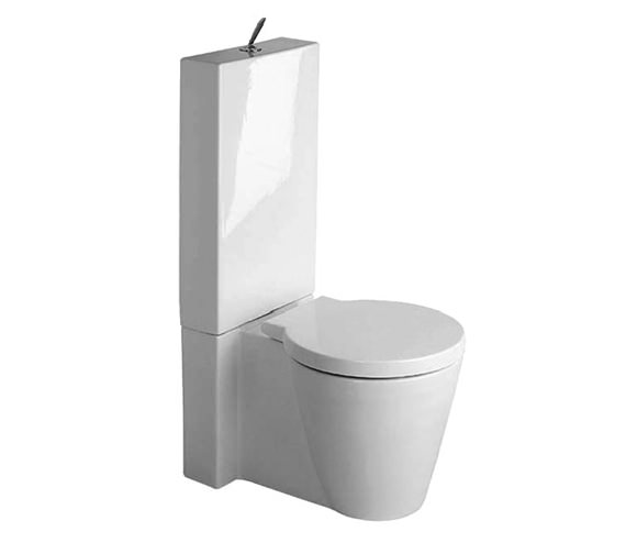 Starck 1 Close Coupled Toilet With Cistern And Seat 640mm - 0233090064