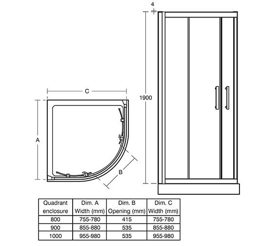 Technical drawing QS-V41000 / L6283EO