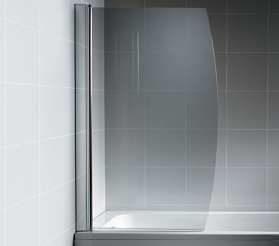 Ideal Standard Synergy 895 x 1500mm Bow Front Bath Screen Without Towel Rail