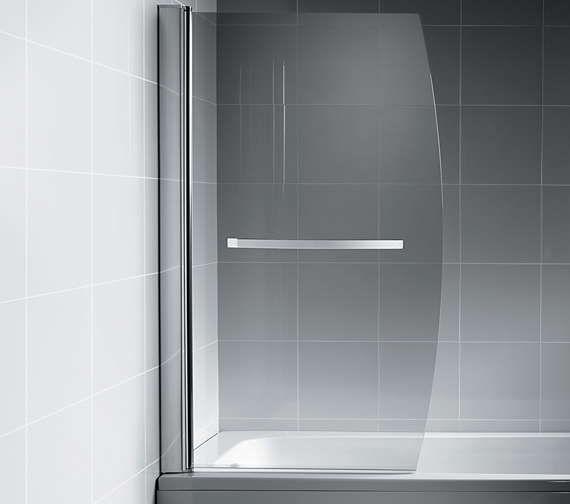Ideal Standard Synergy Bow Bath Screen With Towel Rail - L6212AA
