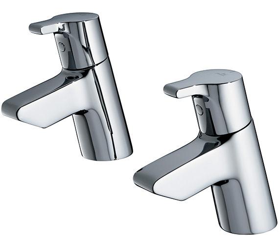 Ideal Standard Active Pair Of Bath Pillar Taps - B8076AA