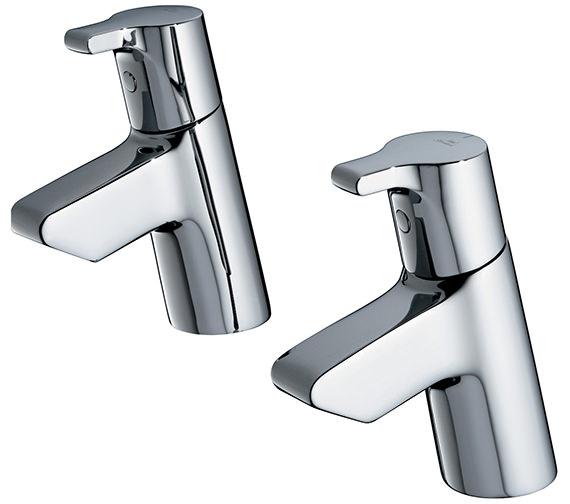 Ideal Standard Active Pair Of Basin Pillar Taps - B8074AA