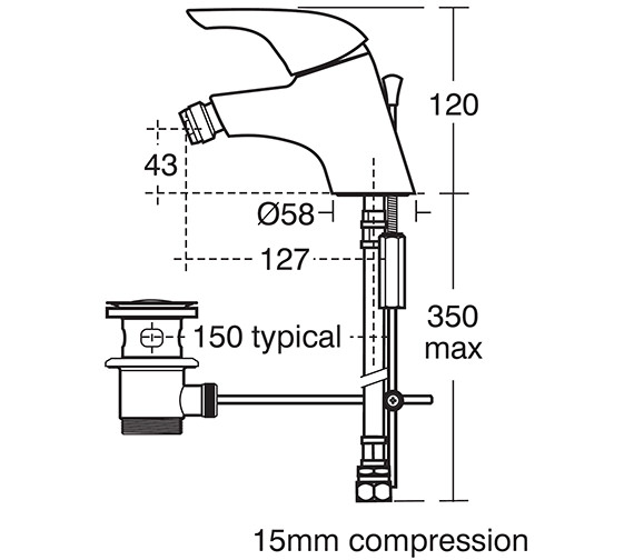 Technical drawing QS-V41043 / B7889AA