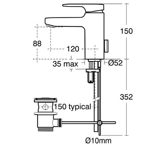 Technical drawing QS-V41055 / A3903AA