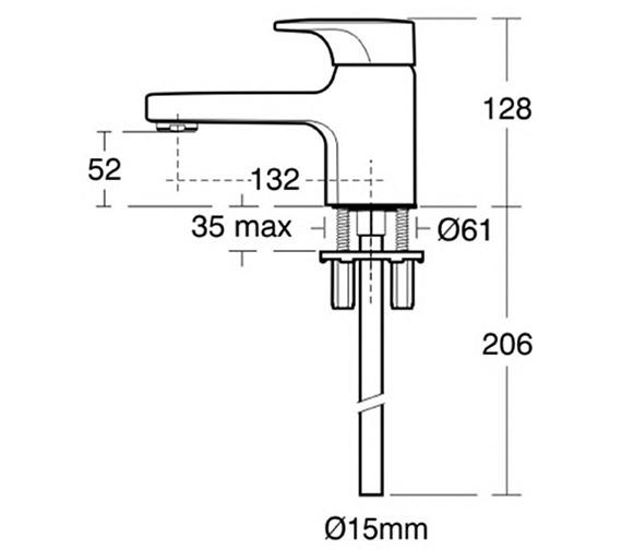 Technical drawing QS-V41056 / A3921AA
