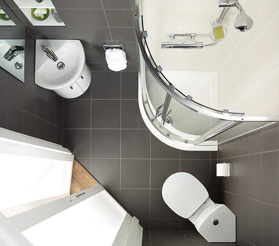 Additional image of Ideal Standard Concept Arc 45cm 1 TH Corner Handrinse Basin - E792801