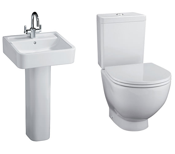 Ideal Standard White Toilet And Basin Set
