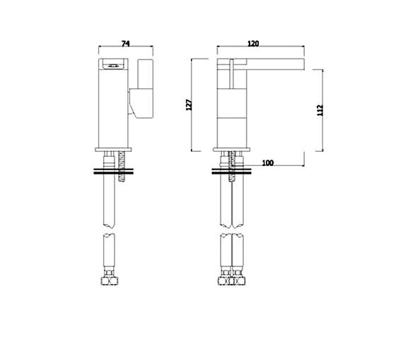 Technical drawing QS-V41108 / DRM009