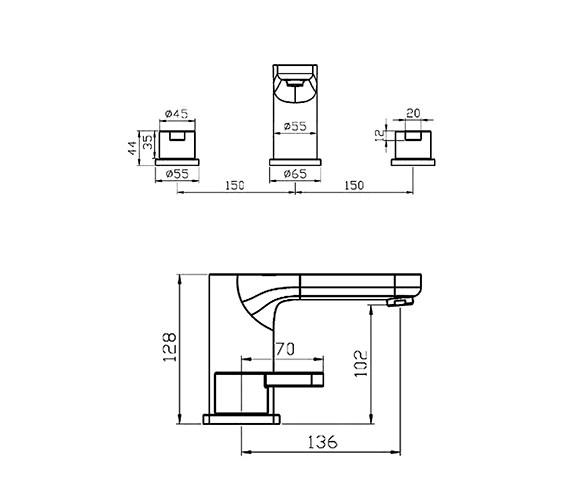 Technical drawing QS-V41113 / EIO045