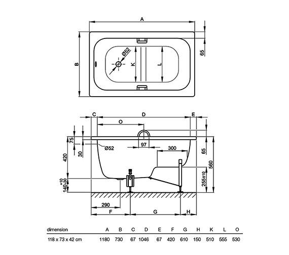 Technical drawing QS-V41159 / 1060 000