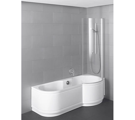 Bette Cora Comfort Shower Bath 1600 x 900mm - Corner Installation