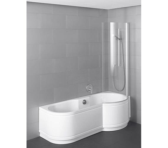 Bette Cora Ronda Comfort Shower Bath 1600 x 900mm - 8500CERH