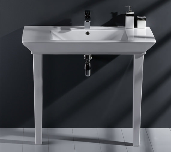 RAK Opulence His Basin With Click Clack Waste And Legs 1000mm White