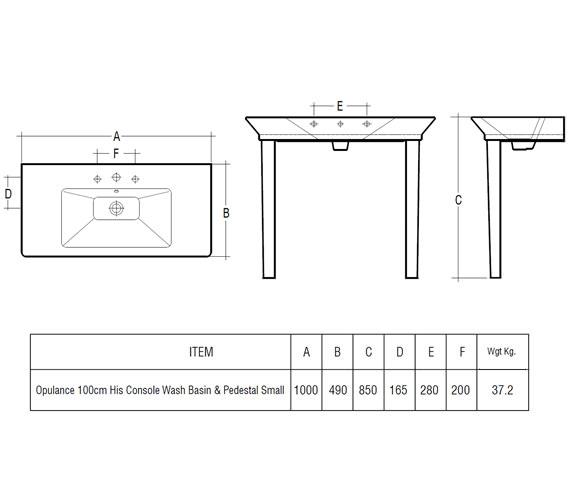 Technical drawing QS-V41236 / OPU100BASM/CC