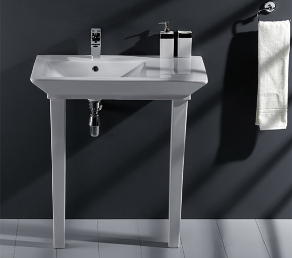 RAK Opulence His Basin With Click Clack Waste And Legs 800mm White