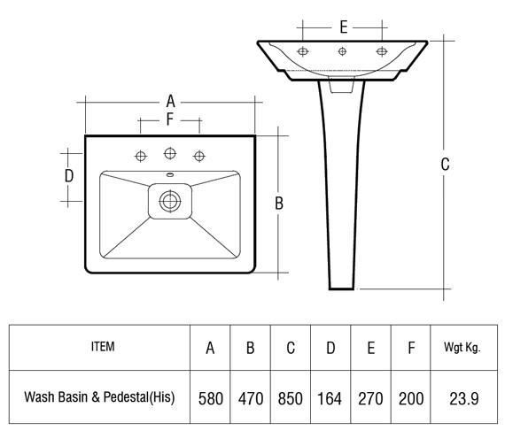 Technical drawing QS-V41244 / OPU58BASM/CC