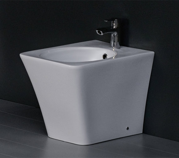RAK Opulence Bidet With Click Clack Waste 547mm White