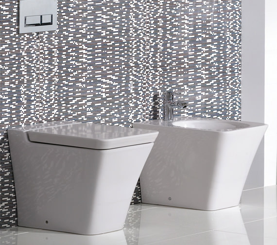 Additional image of RAK Opulence Bidet With Click Clack Waste 547mm White