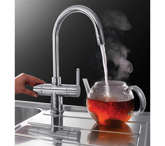 Image 4 of Franke Minerva 3-In-1 Kettle Kitchen Sink Mixer Tap Chrome