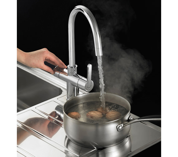 Image 5 of Franke Minerva 3-In-1 Kettle Kitchen Sink Mixer Tap Chrome