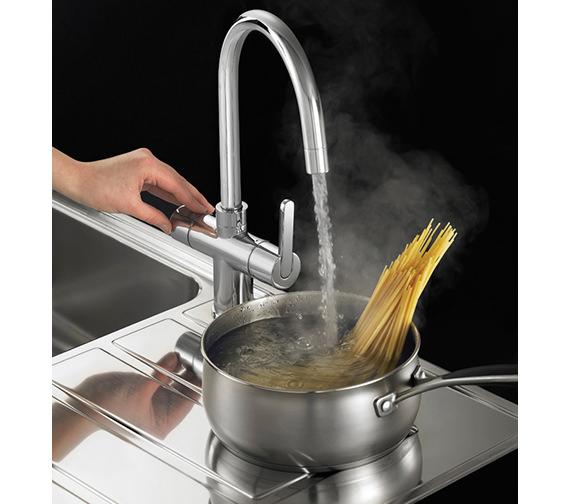 Image 7 of Franke Minerva 3-In-1 Kettle Kitchen Sink Mixer Tap Chrome