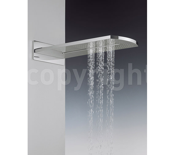 Additional image of Crosswater Elite Rectangular Fixed Overhead Shower - FH2000UC
