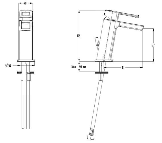 Technical drawing QS-V41319 / SM114DNC