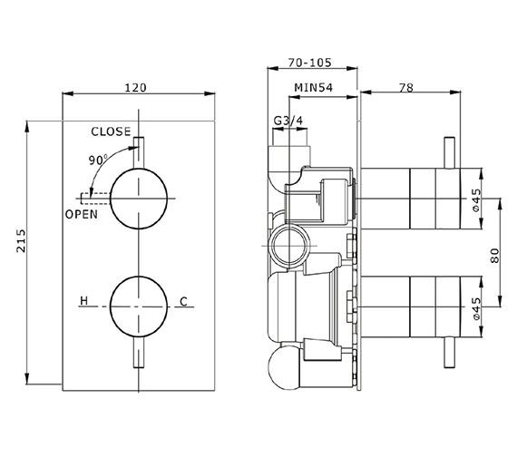 Technical drawing QS-V41338 / KL1000RC