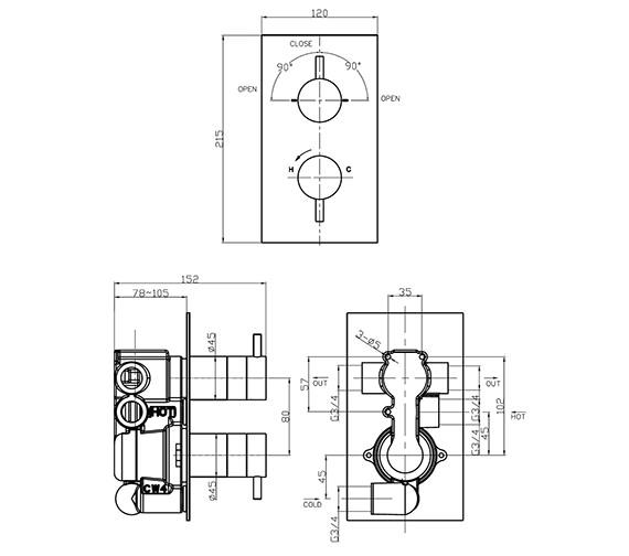 Technical drawing QS-V41339 / KL1500RC