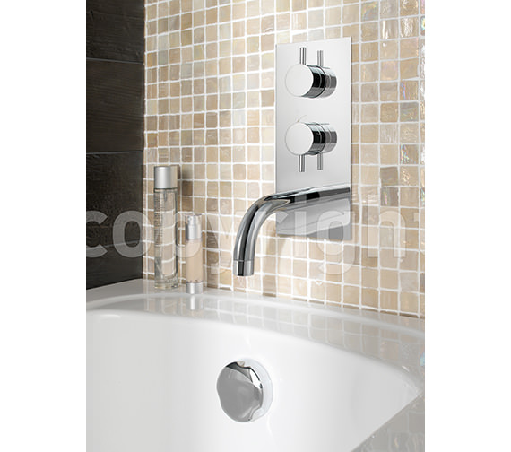 Crosswater Kai Lever Thermostatic Shower Valve With Spout And Diverter