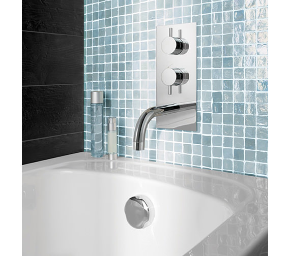 Additional image of Crosswater Kai Lever Thermostatic Shower Valve With Spout And Diverter