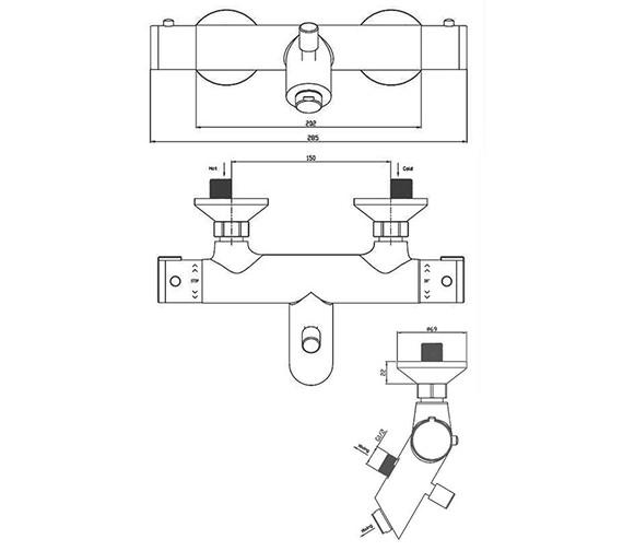Technical drawing QS-V41351 / EV1211EC