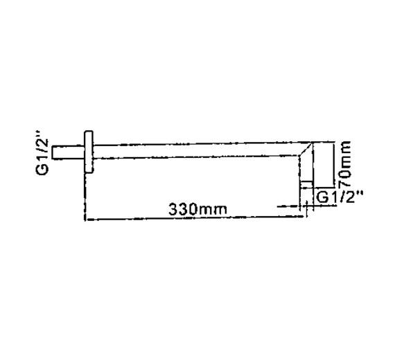 Technical drawing QS-V41390 / FH688C