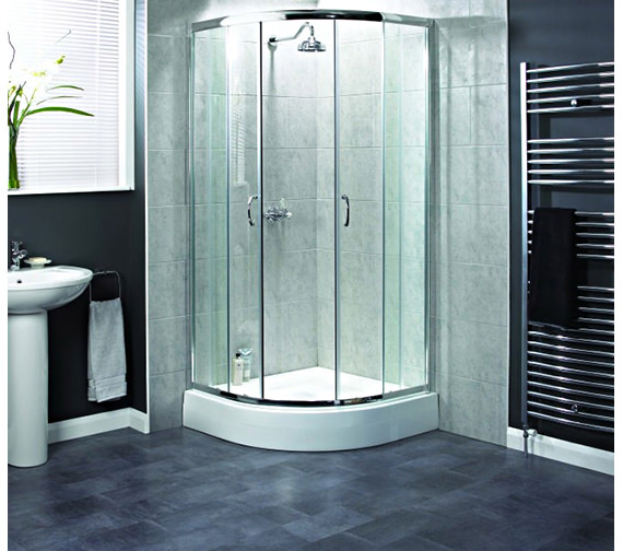 Aqualux Shine Quadrant Shower Enclosure 900 x 900mm Polished Silver