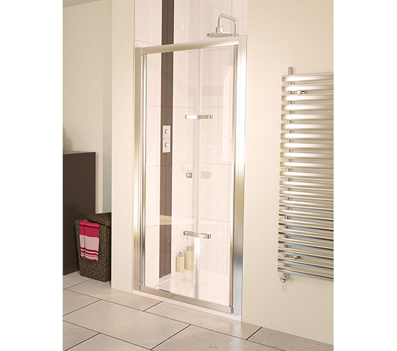 Aqua 6 Bifold Shower Door Polished Silver 800mm