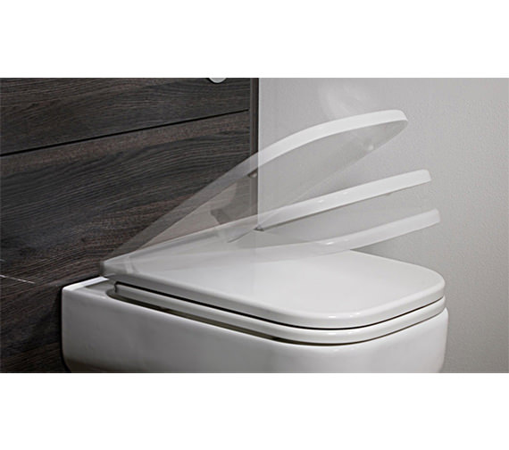 Roper Rhodes Geo Soft Closing Seat White - GSCTS