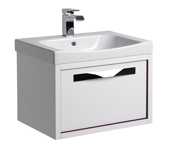 Roper Rhodes Breathe 800mm Wall Mounted Unit White-Grey And Basin