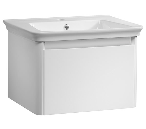 Tavistock Equate 600mm White Wall Mounted Unit And Ceramic Basin